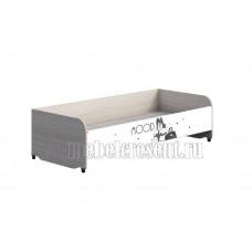 Детская кровать 0.8 «Мийа 3А» КР-016. Белый – фотопечать Ретро