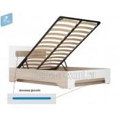 Кровать 1600 с подъёмным механизмом «Палермо 3» Синяя вставка