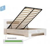 Кровать 1200 с подъёмным механизмом «Палермо 3» зеленая вставка