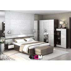Модульный спальный гарнитур «Вегас» Белый глянец