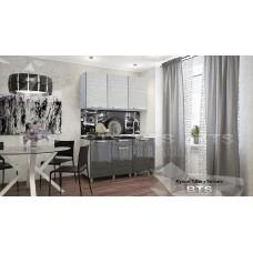 Кухонный гарнитур 15м «Титан» Серый – Титан белый / Титан чёрный