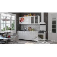 Кухонный гарнитур 2м «Айс-крим» Белый - Белый глянец